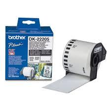 Белая бумажная <b>клеящаяся лента Brother</b> DK22205 ширина 62 ...