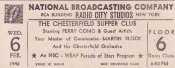 Image result for images of the television show chesterfield supper club with perry como