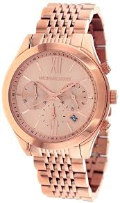 inspired kitchen cdab white brown: amazoncom michael kors rose gold stainless steel bracelet chronograph watch mk michael kors watches