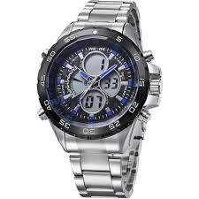 <b>WEIDE Men's Casual</b> Analog Display Dual Quartz Sport Wristwatch ...