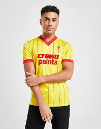 Buy Yellow <b>Liverpool FC Liverpool FC</b> '83 <b>Away Short</b> Sleeve <b>Shirt</b> ...