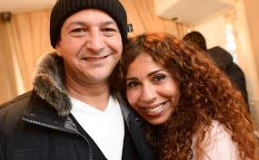 Family photo of the comedian, married to Niama Le Boudoir., famous for Vol = vol & Shouf Shouf Habibi!.