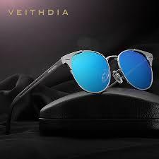 <b>VEITHDIA Unisex Retro Aluminum</b> Brand Sunglasses Polarized ...