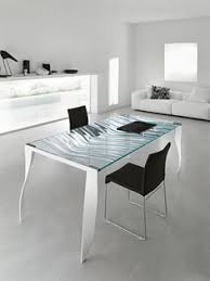 glass table top sits furniture
