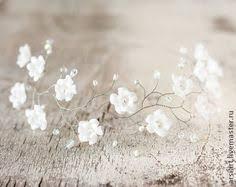51 Венок невесты. Белая диадема. Цветочное <b>украшение</b> ...