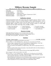 military resume template  examples of a military resume military    military resume sample thumb