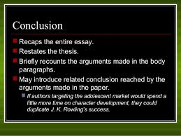 how to write a five paragraph essay  conclusion  recaps the entire essay