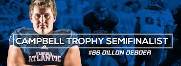 com message from vice president and director of dillon is the first semifinalist in school history the campbell trophy is equivalent to the heisman trophy for academics the national football foundation
