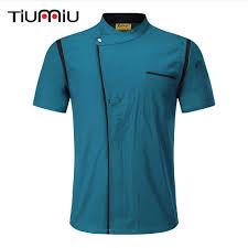 <b>Chef</b> Jacket Unisex <b>Cook</b> Coat Kitchen Summer <b>Short Sleeve</b> Shirt ...