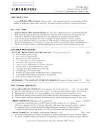 office services assistant resume executive assistant middot sample resume medical receptionist