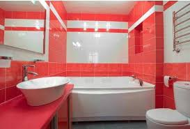 bathroom shower tile design color combinations: tiles design white red color combinations