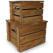 vidaXL <b>Storage Crate Set 2</b> Pieces Solid Reclaimed Wood in 2020 ...