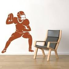sun wall decal trendy designs: football player wall mural  football player wall mural