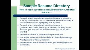 resume format professional administrative assistant resume resume format professional administrative assistant resume