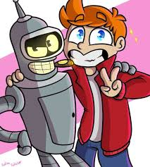 <b>Fry & Bender</b>, Futurama | Futurama, Futurama bender, Cartoon art