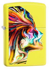 <b>Зажигалка Zippo</b> Colorful face (29083) желтая