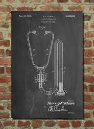 stethoscope poster doctors office decor nurse prints medical poster medical art pp1066 anatomy home office