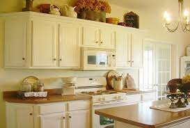 painted kitchen cabinets vintage cream: image of painting kitchen cabinets white distressed