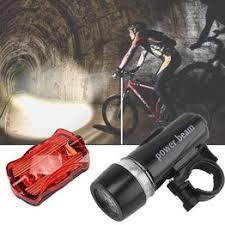 Bicycle Mountain Bike Headlight Taillight Set LED Night ... - Vova