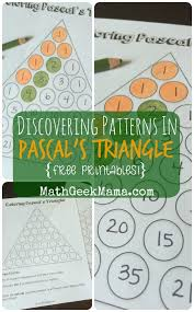 best ideas about pascal s triangle algebra exploring patterns in pascal s triangle printables