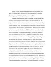 Masculine Gender Role Conflict and Psychological Well  Being  A     UNT Digital Library   University of North Texas