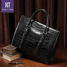 <b>Luxury</b> genuine <b>crocodile leather bag</b>