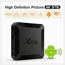 Smart TV <b>X96</b> Q <b>X96Q Android 10.0</b> TV Box Allwinner H313 Quad ...