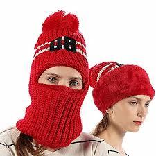 FLY HAWK <b>Girls</b> Kids Knit Beanie Mask Hat Warm <b>Winter Outdoor</b> ...