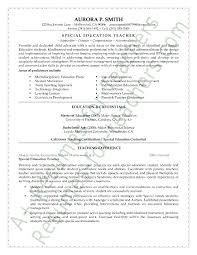 special education teacher resume sample   page