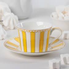 """<b>Чайная пара 180</b> мл """"Гастроли"""", блюдце 14,8 см, цвет жёлтый ..."""