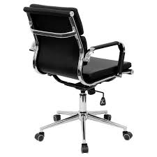Febland <b>Black Faux</b> Leather Tilt <b>Office Chair</b>, One Size