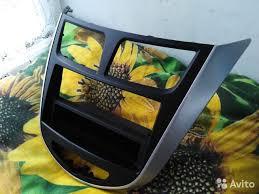 Рамка <b>штатная</b> для <b>1din магнитолы</b> Hyundai Solaris купить в ...