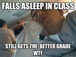 Falling Asleep in Class memes | quickmeme via Relatably.com