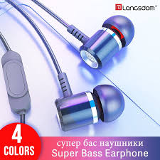 <b>Langsdom M400 Metal</b> Earphone Super Bass with Mic Stereo Hifi ...