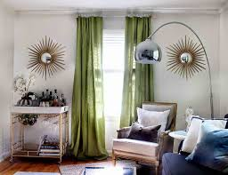 image of green mid century modern curtains antique lamp enchanting mid century modern