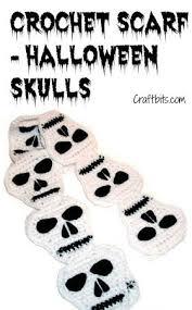 Crochet A <b>Gothic Halloween Skull</b> Scarf | Crochet <b>skull patterns</b> ...