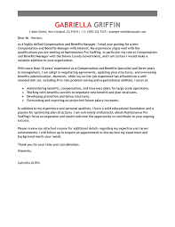 best compensation and benefits cover letter examples   livecareeredit