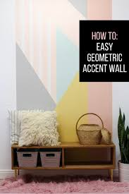 love yellow accent wall how to create an easy diy geometric accent wall the tutorial is very e