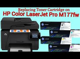 Replacing Toner Cartridges on <b>HP Color Laserjet Pro</b> M177fw ...