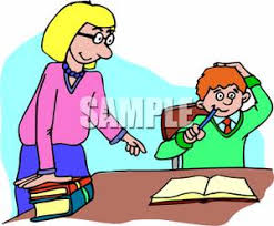 Child If They Need Help With Homework Royalty Free Clipart Picture