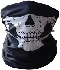 UK! <b>Bicycle Ski Skull</b> Face <b>Mask</b> Ghost Scarf Neck Warmer Snood ...