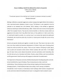 bullying essay example   selopjebat every resume helpsget cause and effect essay on bullying example