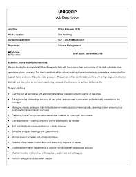 Unicorp job description office manager UNICORP Job Description Job title: Office Manager (M/F) Work Location: ...