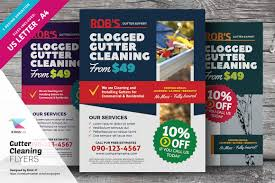 gutter cleaning flyer templates flyer templates on creative market