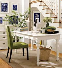 chic front desk office interior design ideas art green wall tabletop table decor nadine froger revelry adorable interior furniture desk ideas small