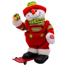 Снеговик с Подарочком на Сноуборде, Музыкальный ...