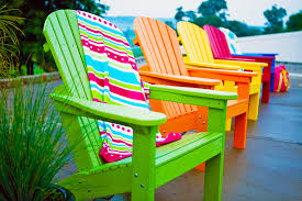 adirondack row bright colors bright coloured furniture