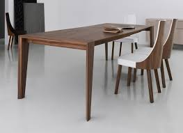 wood extendable dining table walnut modern tables: furniture catalina walnut extension dining table american made