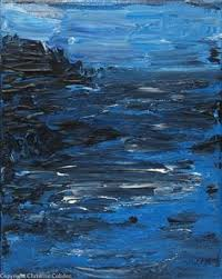 ocean painting blue waters acrylic landscape painting by theattictheory acryclic painting soft