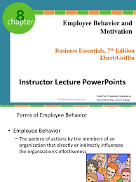 chapter employee behavior and motivation motivation